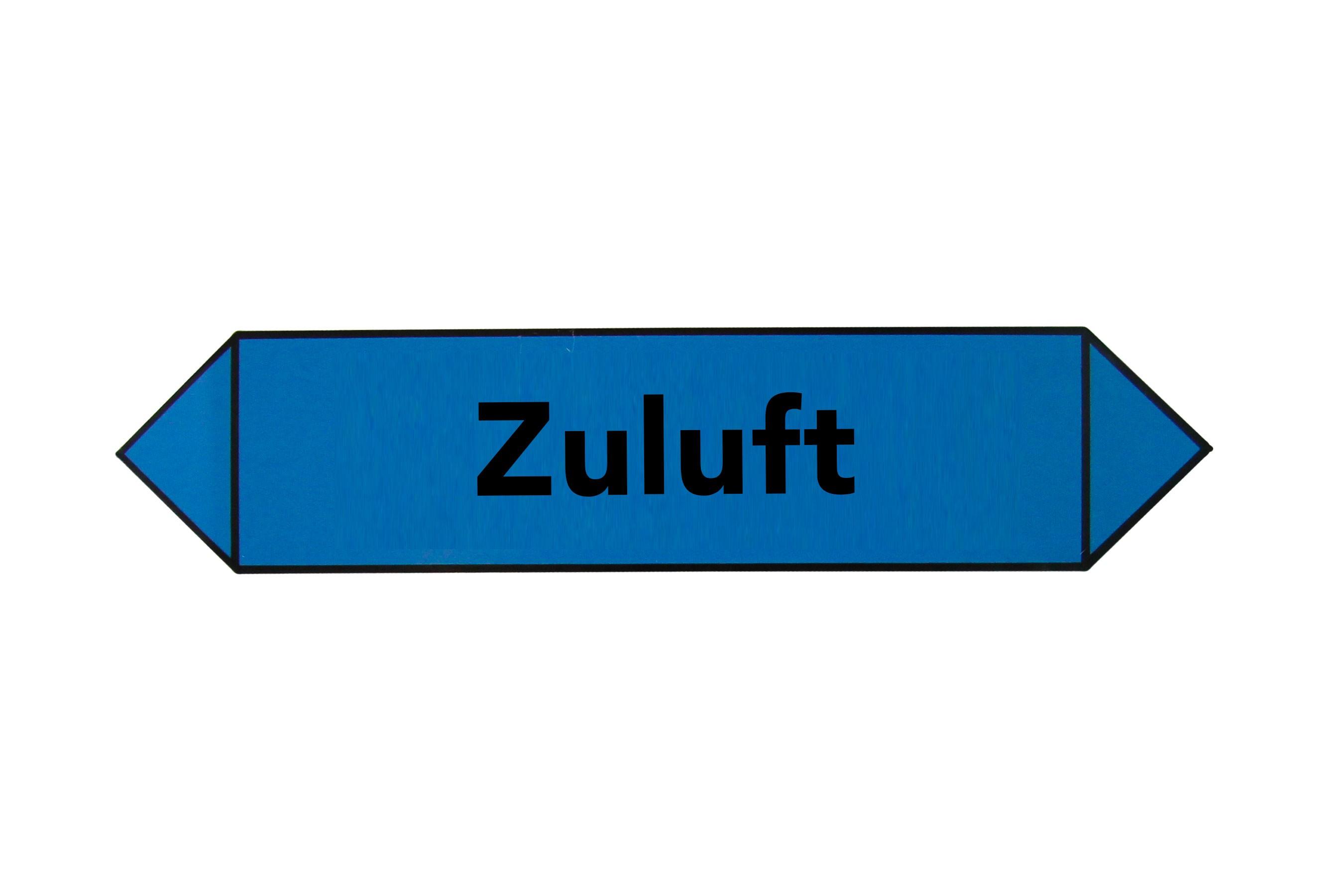 MEZ-STICKER - Zuluft blau