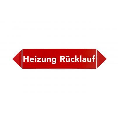 MEZ-STICKER - Heizung Rücklauf