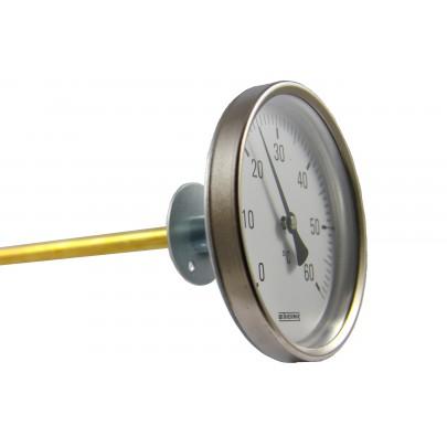 Bimetall-Zeigerthermometer, Baureihe B17, Messfühler aus Messing